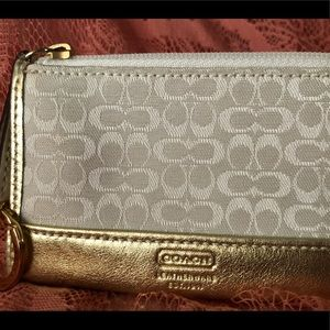 Coach change purse key and card holder